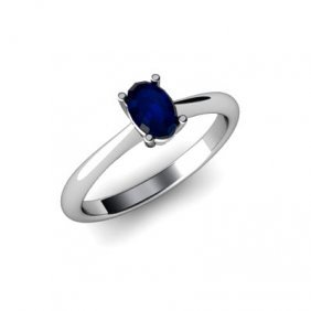 Genuine 3.15 Ctw Sapphire Ring 14k W/Y Gold