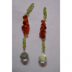 Natural 16.15ct Semi Precious Earring .925 Sterling