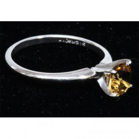 Natural 1.25ctw Citrine .925 Sterling Silver Ring