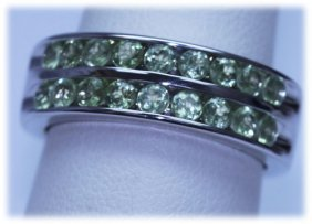 30.15 CTW PERIDOT RING .925 STERLING SILVER