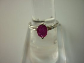 10.00 CTW RUBY RING .925 STERLING SILVER