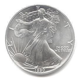 Uncirculated Silver Eagle 1990