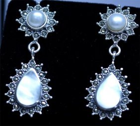 43.30 CTW PEARL/SEMI PRECIOUS ANTIQUE LOOKING JEWELRY .