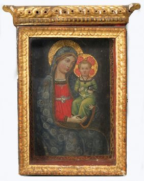 ITALIAN ICON OF MADONNA AND CHILD