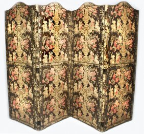CHINTZ 4-PANEL FOLDING DRESSING SCREEN