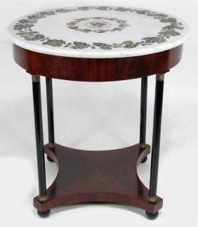 19TH C. PIETRA DURA CENTER TABLE