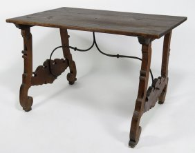 ITALIAN BAROQUE-STYLE WALNUT CENTER TABLE