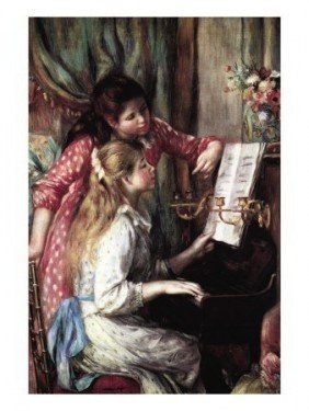 "Pierre Renoir ""Two Young Girls At The Piano "" Giclee"