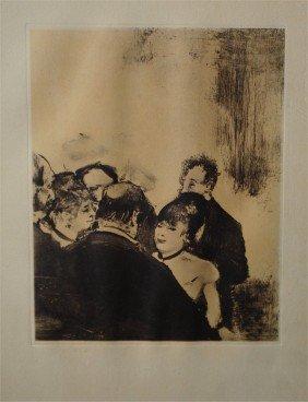 "DEGAS ""Famille Cardinale "" Rare LITHOGRAPHIE 1938"