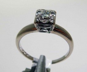 0.19ctw Diamond 14KT White Gold Ring