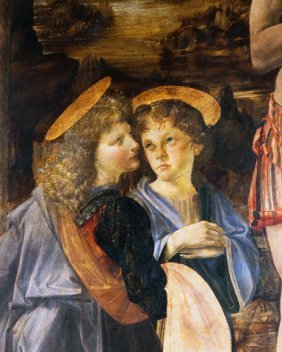 The Baptism Of Christ [detail]  Leonardo Da Vinci