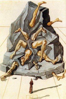 Dali, Salvador Divine Comedy WOODCUT Lithograph