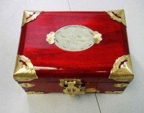 Hand Made Mahogany Wood Chinese Jewelry Box