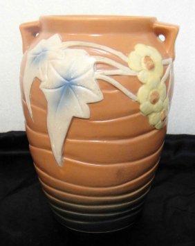 Ceramic Painted Vase Stamped
