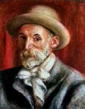 """Auguste Renoir """"Autoportrait"""" Lithograph Plate Si"""