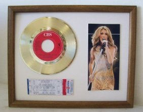 """Where Does My Heart Beat"" Celine Dion Gold Plate"