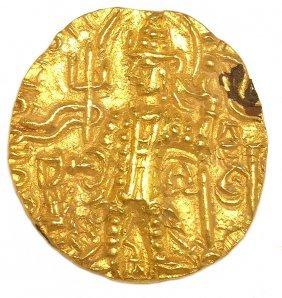 Ancient 240AD Kushan Vasudeva III 22KT-24KT Gold Coin