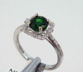1.12ct RARE Tsavorite & 0.24ct Diamond 18KT Gold Ring