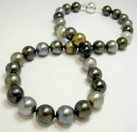 11.00-12.00mm Tahitian South Sea Cultured Pearl Necklac