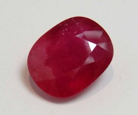 10.01ct Natural Ruby With GLA Certification