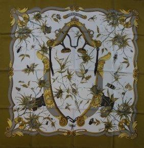 Hermes Silk Scarf, Ingrid Pattern