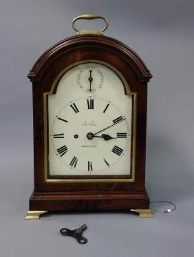 19thc English Regency Bracket Clock, James Sims