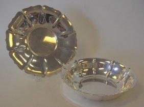 "Watson Exemplar Sterling Bowl & Platter, ""Irish"""