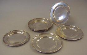 Eight Sterling Bread Plates, Gorham, Alvin, Etc.