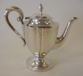 Sterling Silver Bachelor's Teapot