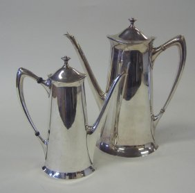 Art Nouveau Sterling Coffee Pot & Teapot, Towle