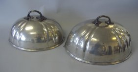 Shaw & Fisher Sheffield Silver Food Dome 2 Domes