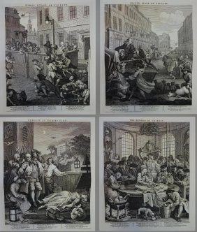 Hogarth, 4 Stages Of Cruelty, From Original Plates