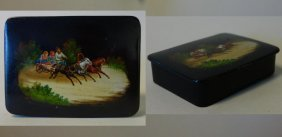 Russian Hand-painted Lacquer Box, Fedoskino