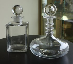 2 Baccarat Crystal Decanters