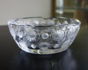 "Lalique ""napsbury"" Crystal Ashtray"