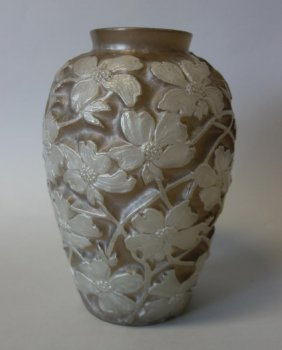Large Phoenix Consolidated Art Glass Vase