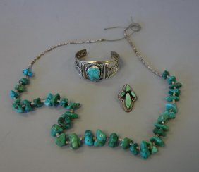 Navajo Sterling & Turquoise Jewelry, Juan Willie