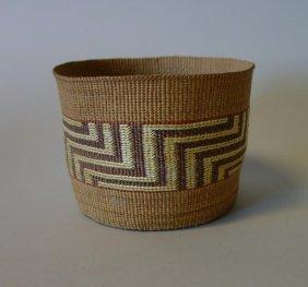 Tlingit Northwest Coast Polychrome Basket