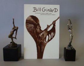 Bill Girard, 2 Female Nudes, Bronze & Silver