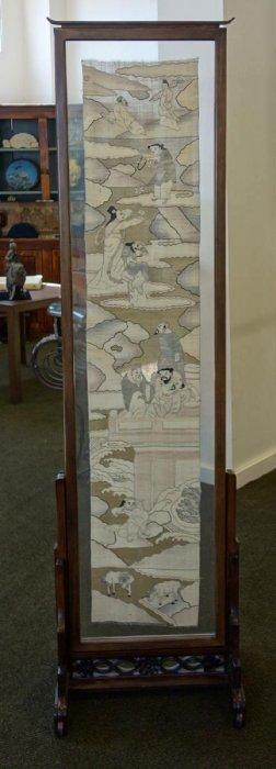 Chinese K'ossu Tapestry Panel / Floor Screen