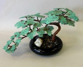 Bronze Bonsai Tree Sculpture