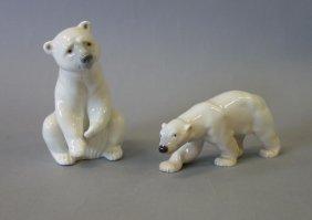 Llardo & B & G Porcelain Polar Bear Figures