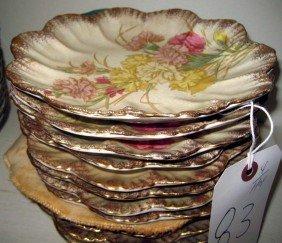 12 Salad Platter Plates Painted