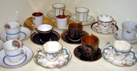 14 Demitasse Cups And Saucers
