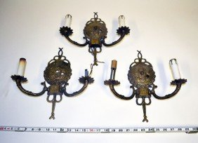 Set Of Three Spanish Neo-Classical Sconces