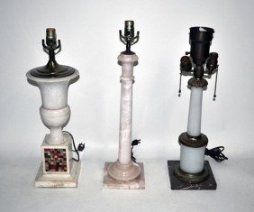 Group Of Three Neo-Classical Style Table Lamps