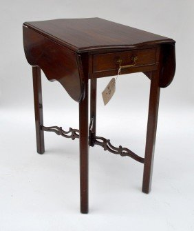 One Drawer Mahogany Table
