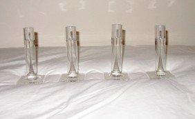 Four Crystal Candlesticks