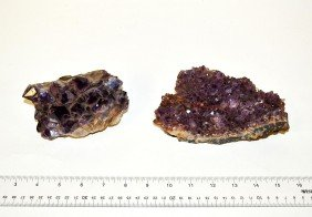 Two Amethyst Clusters