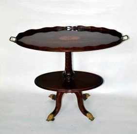 Two Tier Oval Table